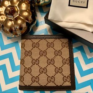 Brand New Gucci Canvas Leather Guccissima Wallet